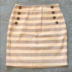 Grey and white stripe skirt